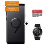 Knaller! Samsung Galaxy S9+ inkl. Galaxy Watch 46mm + 200GB Speicherkarte für 11€ + Vodafone Flat mit 4GB für 31,99€ mtl.