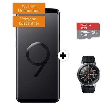 Vorbei! Samsung Galaxy S9+ inkl. Galaxy Watch 46mm + 200GB Speicherkarte für 11€ + Vodafone Flat mit 4GB für 31,99€ mtl.