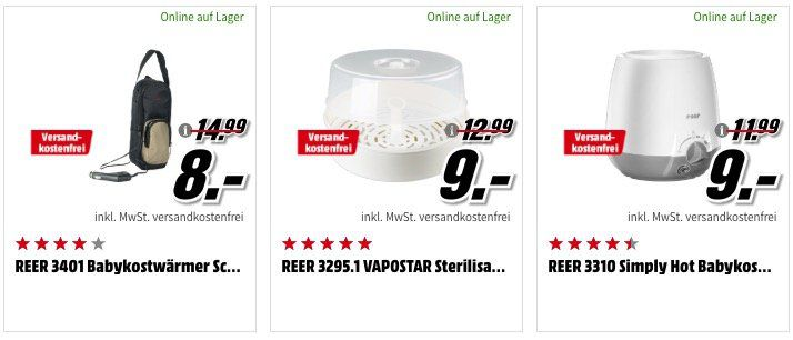Baby Aktion beim Media Markt + keine VSK   z.B. reer BeeConnect Plus Babyphone für 22€ (statt 49€)
