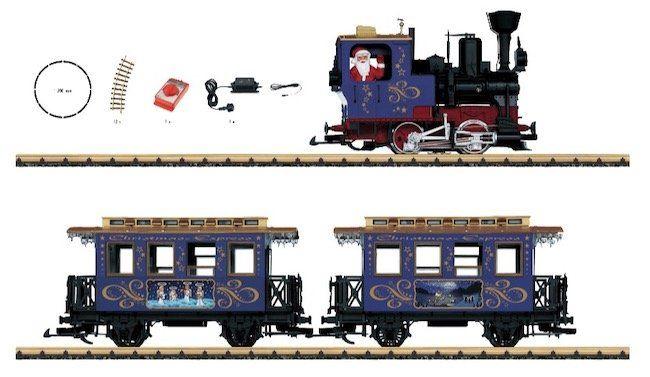 Weihnachtszug Eisenbahn + Bahnhof Gleis Set für 399,99€ (statt 467€)