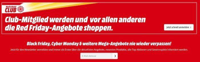 ? Media Markt Red Friday: Club Mitglieder dürfen früher sparen