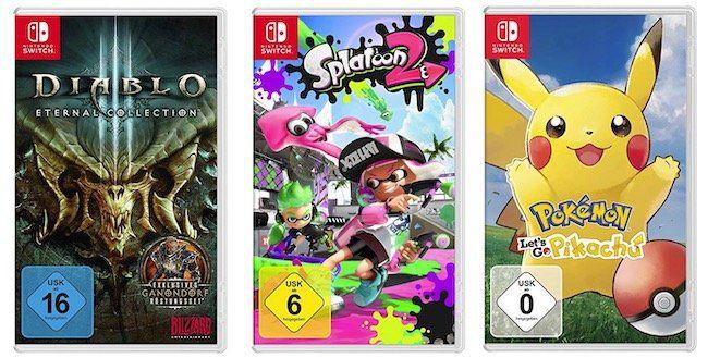 ?️ 3 Nintendo Switch Spiele für 100€ bei Amazon