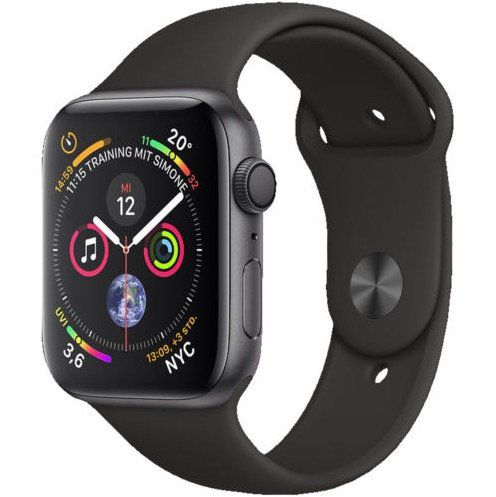 Apple Watch Series 4 GPS 44mm Space Grau Aluminium Sport Band für 419,90€ (statt 450€)