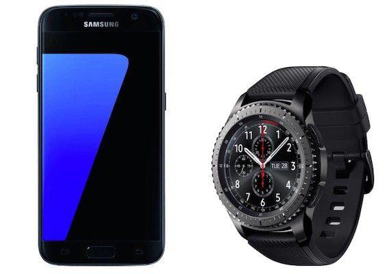Samsung Galaxy S7 + Samsung Gear S3 Frontier für 333€ (statt 438€)