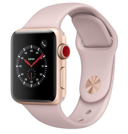 Apple Watch Series 3 (GPS + LTE) 38mm in Sandrosa mit Sportarmband für 349€ (statt 410€)