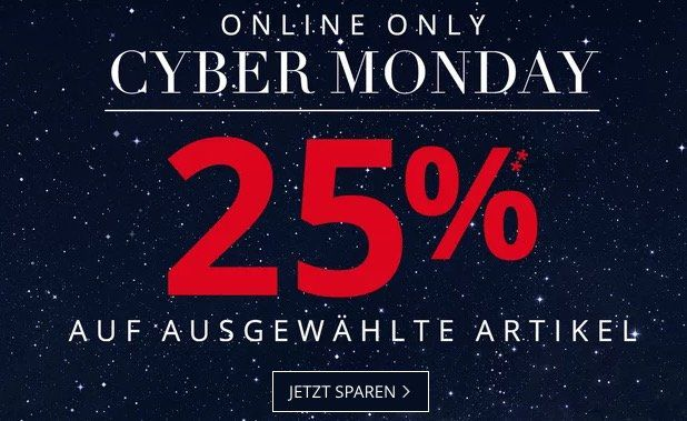 ? Tipp! Peek & Cloppenburg* Cyber Monday Sale mit 25% Extra Rabatt auf Sale
