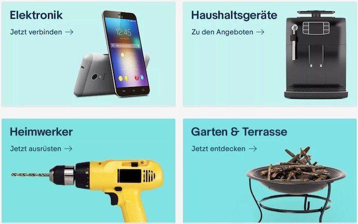 eBay nur noch heute mit 10% Rabatt auf Elektronik, Haushaltsgeräte, Heimwerker & Garten & Terrasse