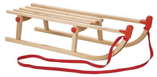 Schlitten aus Echtholz in Naturfarben für 23,95€ (statt 30€)
