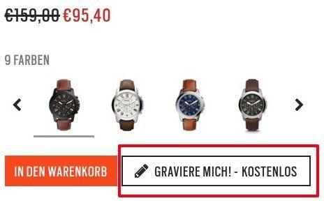 Fossil Grant FS5241 Herrenuhr für 95,40€ (statt 112€) + gratis Gravur