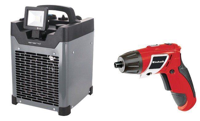 Emerio FH 117205 Craftsmen Heizlüfter mit 3.300 Watt für 135€ + gratis Einhell TC SD 3,6 Li Akkuschrauber (Wert 22€)
