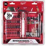 Milwaukee Bitsatz 40-teilig Shockwave + Fastback Klappmesser im Set für 32,73€ (statt 43€)