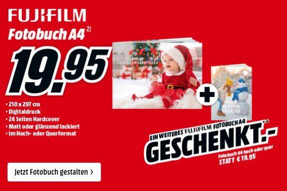 2er Pack Fujifilm Fotobuch A4 (je 24 Seiten Hardcover) für 19,95€ (statt 40€)