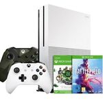 Xbox One S 1TB + 2 Controller + 1 Jahr Game Pass + Battlefield 5 + Battlefield 1 + Battlefield 1943 für 249€ (statt 290€)