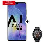 Huawei Mate 20 + Huawei Watch GT für 29€ + Telekom Allnet-Flat mit 8GB für 36,99€ mtl.