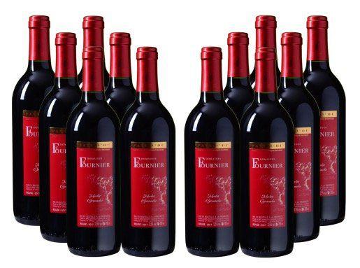 12 Flaschen Rotwein Domaines Fournier Merlot Grenache für 29,95€