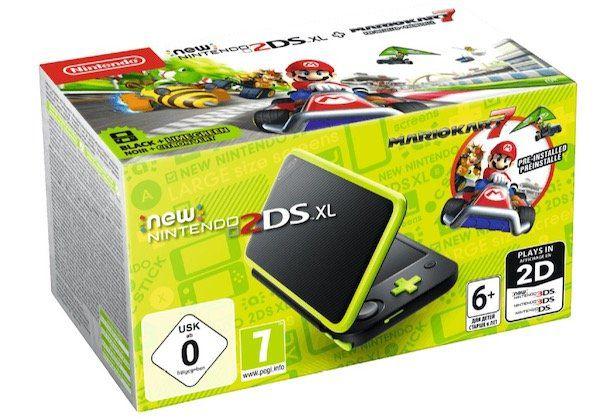 Nintendo 2DS XL inkl. Mario Kart 7 für 129€ (statt 146€)