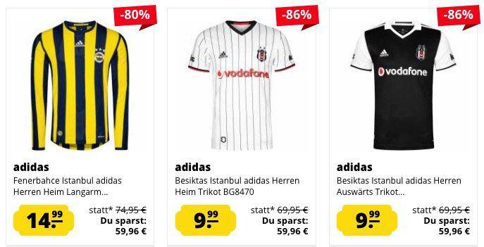 Fenerbahce & Besiktas Istanbul Fan Sale   z.B. Besiktas Auswärts Trikot für 4,99€ (statt 18€)