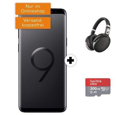 Samsung Galaxy S9 inkl. Sennheiser HD 4.50 + 200GB Speicherkarte für 29€ + Telekom Allnet Flat + 1GB Daten für 21,99€ mtl.