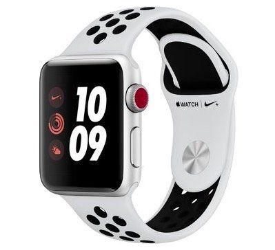Wieder da! Apple Watch Series 3 Nike+ 38mm Smartwatch mit LTE und mit Nike Sportarmband für 323,99€ (statt 399€)