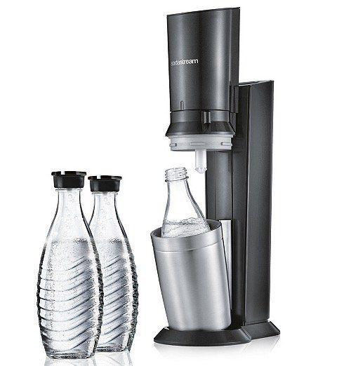 Sodastream Crystal 2.0 Wassersprudler mit 3 Glaskaraffen + 1 Zylinder ab 100,94€ (statt 120€)