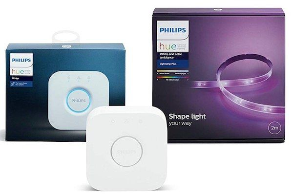 Philips Hue LightStrip+ 2 m Basis inkl. Hue Bridge für 74,17€ (statt 89€)