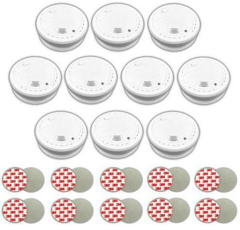 10er Pack Xeltys Rauchmelder mit 10 Jahre Lithium Batterien inkl. Magnetbefestigungen für 69,99€ (statt 88€)