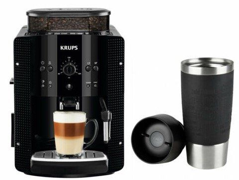 Krups EA8108 Kaffeevollautomat mit Dampfdüse + Emsa Travel Mug für 199,90€ (statt 225€)