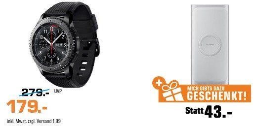 Samsung Gear S3 Frontier + Samsung Induktive Powerbank 10.000mAh ab 179€ (statt 216€)