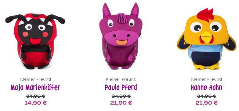 Affenzahn Kindergarten Rucksäcke ab je 14,90€ + keine VSK   z.B. Maja Marienkäfer für 14,90€ (statt 35€)