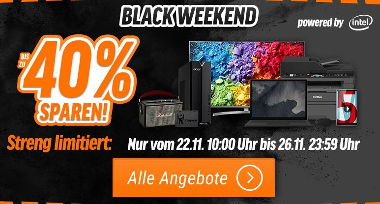 Notebooksbilliger Black Weekend – z.B. QNAP Systems TS 231P Turbo NAS 2 Bay für 151,20€ (statt 227€)