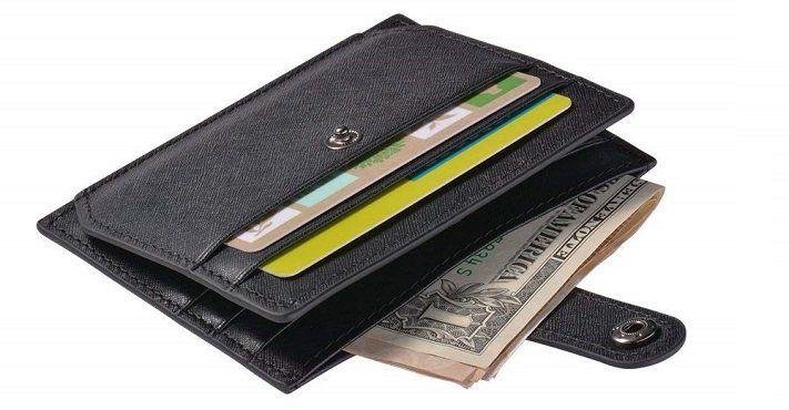 Arioj XC408B Leder Geldbörse mit RFID Blocking für 10,49€ (statt 20€)
