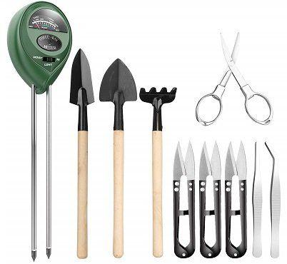 Pancellent Bodenmessgerät mit 9 Bonsai Werkzeugen für 8,99€ (statt 18€)