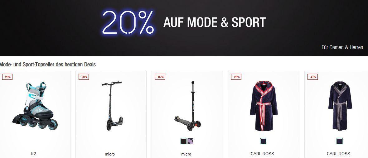 Galeria Kaufhof Sonntagsangebote   z.B. 20% Rabatt auf auf Damen , Herren Mode und Sport Artikel