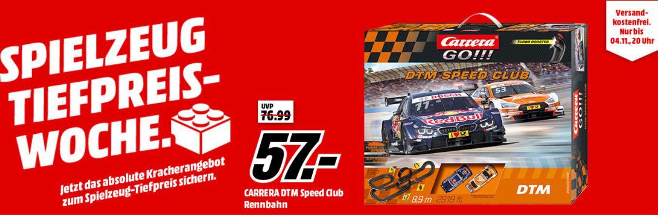 MM Spielzeug Tiefpreiswoche: letzter Tag  z.B. CARRERA (TOYS) GO!!!   DTM Rennbahn für 57€ (statt 69€)