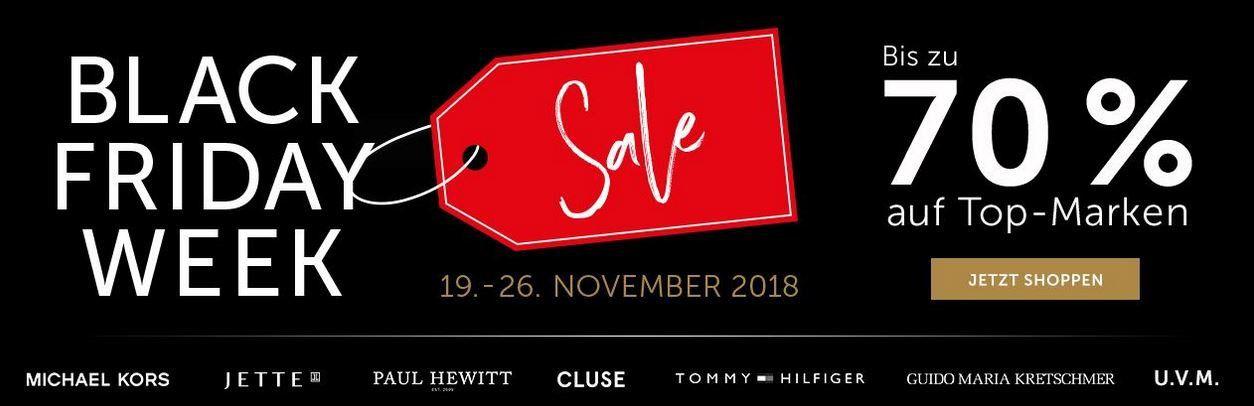 CHRIST Black Week: Uhren & Schmuck Sale mit bis zu 70%