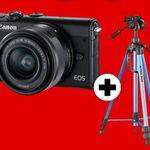 CANON EOS M100 Systemkamera + Cullmann Alpha Stativ für 299€ (statt 384€)