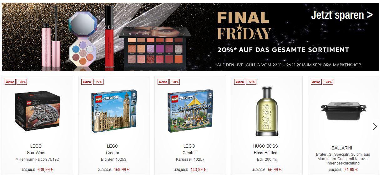 Galeria Kaufhof Final Weekend   Heute z.B. 20% auf Beauty Artikel, Spielwaren, Schuhe, Jacken und Mäntel und vieles mehr!