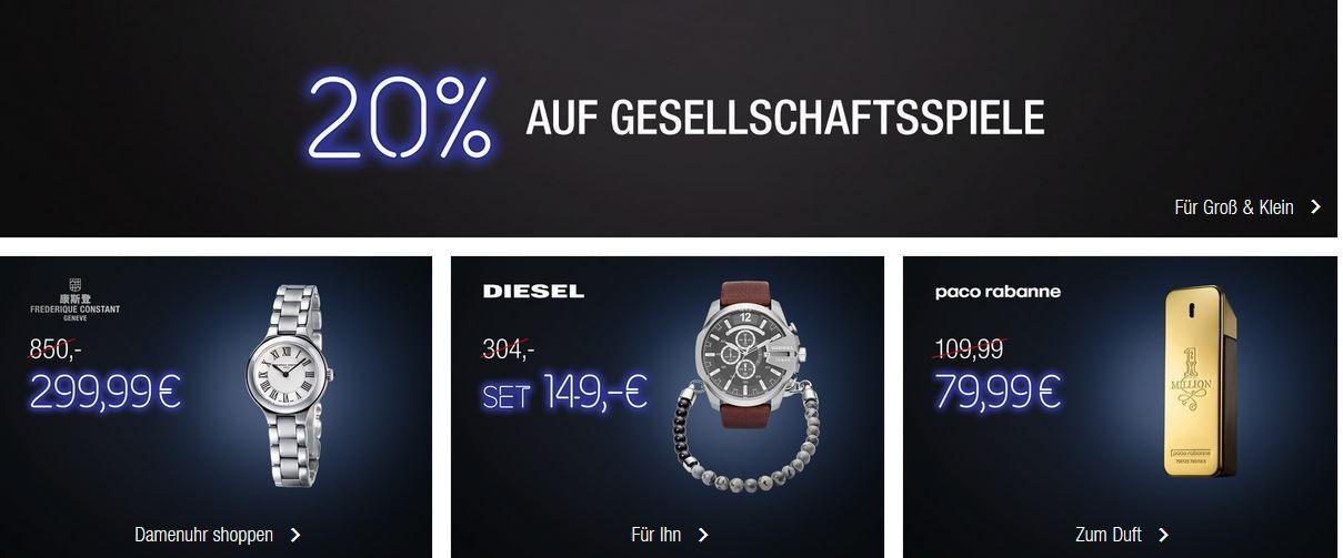 Galeria Kaufhof Black Week   Heute z.B. 20% auf Gesellschaftsspiele