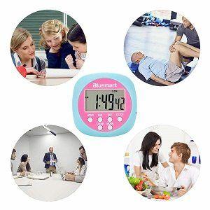 Blusmart Digitaler Küchentimer mit Countdown , Count Up  und Uhren Funktion (Doppelpack) für 2,99€ (statt 11€)