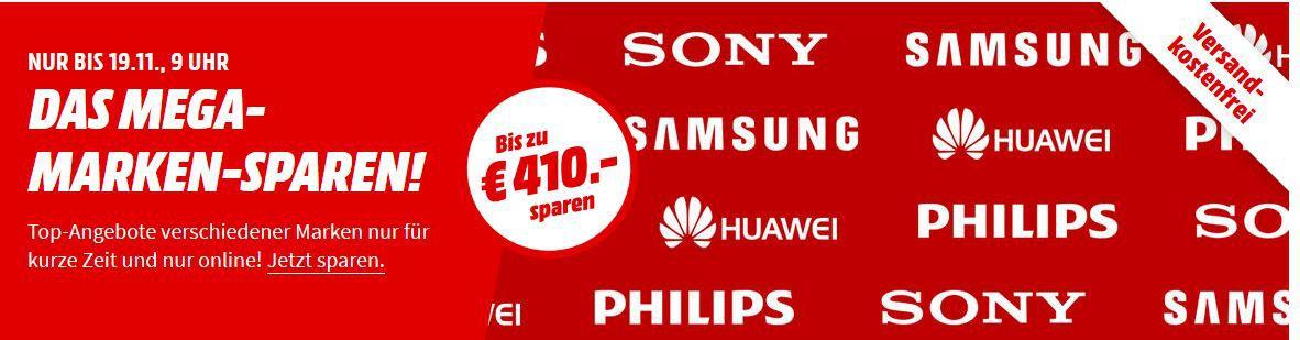 Media Markt Mega Marken Sparen: günstige Artikel von Samsung, Sony, Philips und Huawei + Geschenkgutscheine
