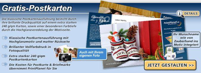 Postkarten gratis gestalten und verschicken