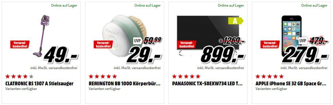 Media Markt Preishammer Sale: z.B. PANASONIC 58 UHD TV für 899€ (statt 1.179€)