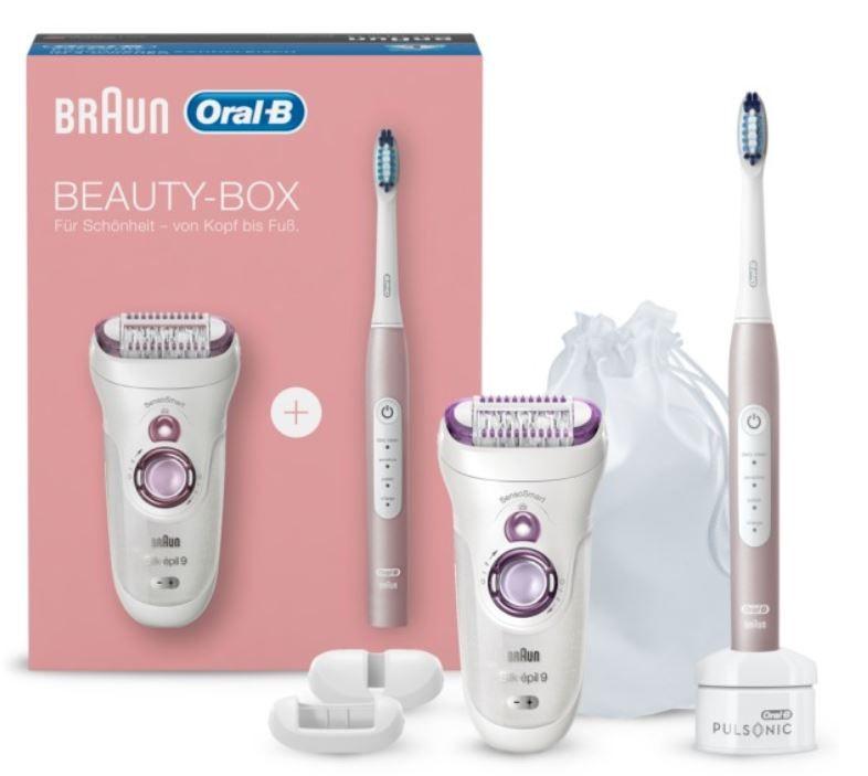 BRAUN & Oral B Beauty Box Epilierer und Schallzahnbürste für 84€ (statt 110€)