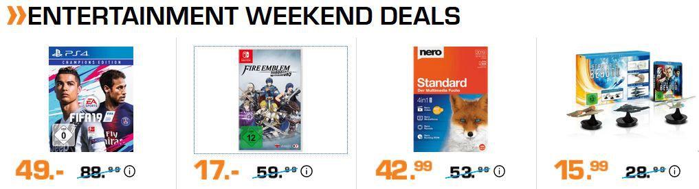 Saturn Entertainment Weekend Deals: z.B. PS 4 DOOM (Day One Edition) + Dishonored 2 für 18€ (statt 26€)