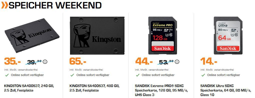 SATURN Single Day Weekendaktionen: günstige Fernseher, Speicher und Audio + Kopfhörer