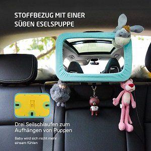 VicTsing Baby Rückspiegel mit niedlichen Esel Cover für 8,49€ (statt 15€)