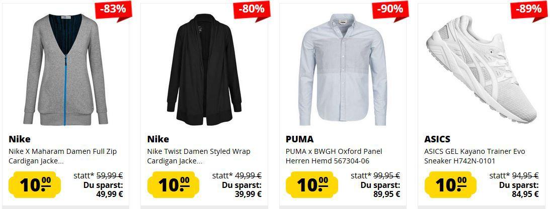 TOP! SportSpar Marken Ausverkauf   jedes Teil 10€   ab 50€ VSK frei