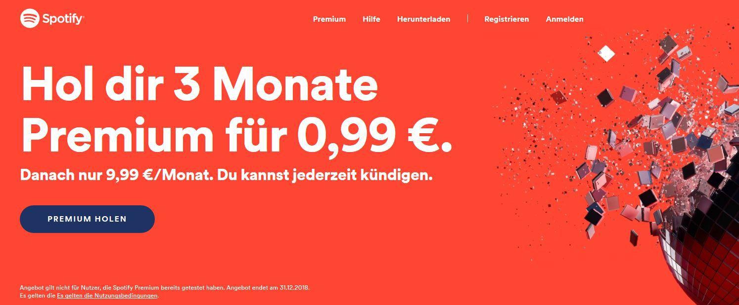 3 Monate Spotify Premium Angebot Nur 099 Nur Für Neukunden