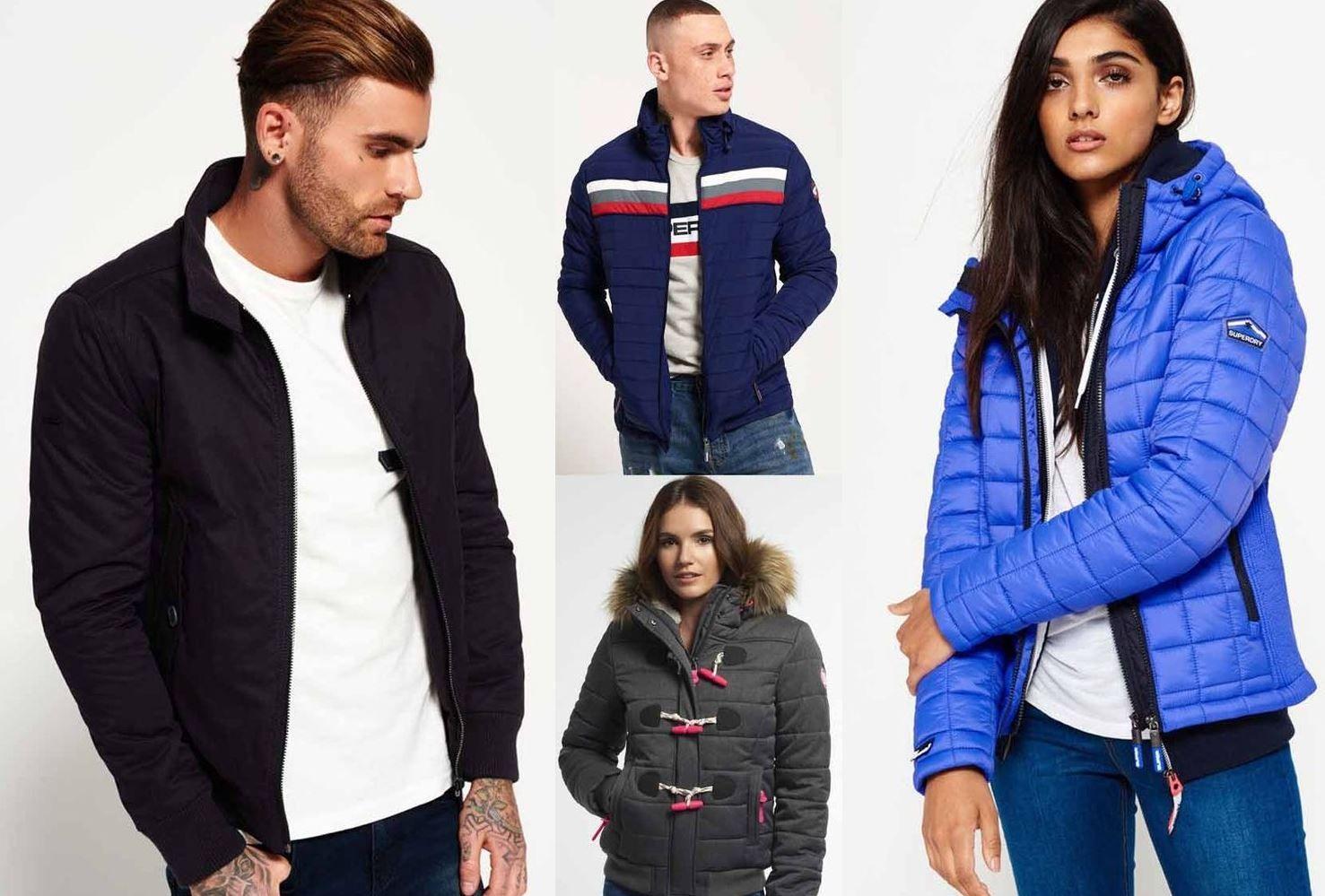 Superdry Jacken   60 Damen und Herren Modelle bis 3XL für je 51,95€