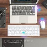 iClever Aluminium Wireless Slim-Tastatur mit QWERTZ-Layout für 26,99€ (statt 36€)